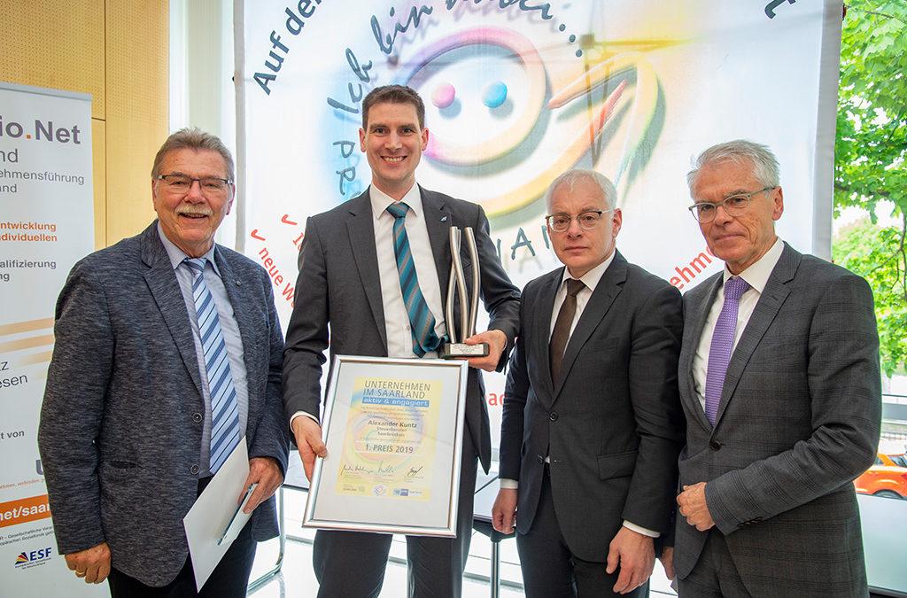 """Auszeichnung beim Unternehmenswettbewerb """"aktiv & engagiert"""""""